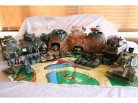 Great selection of army/military kids toys, all in good condition. Includes tanks, soldiers, playset