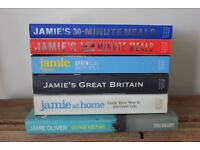 6 Jamie Oliver cookbooks - £25
