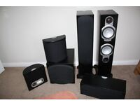 Monitor Audio Silver RS6 AV 5-1 Speaker System, Black Oak