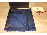 Luxury Louis Vuitton navy Scarf /Shawl - brand new
