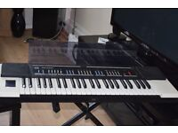 JVC STEREO KEYBOARD STAND/ POWER CABLE/COVER CAN BE SEEN WORKING