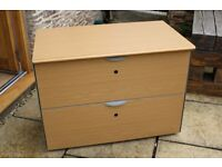 2 drawer lateral office filing cabinet W100cm H63cm D60cm
