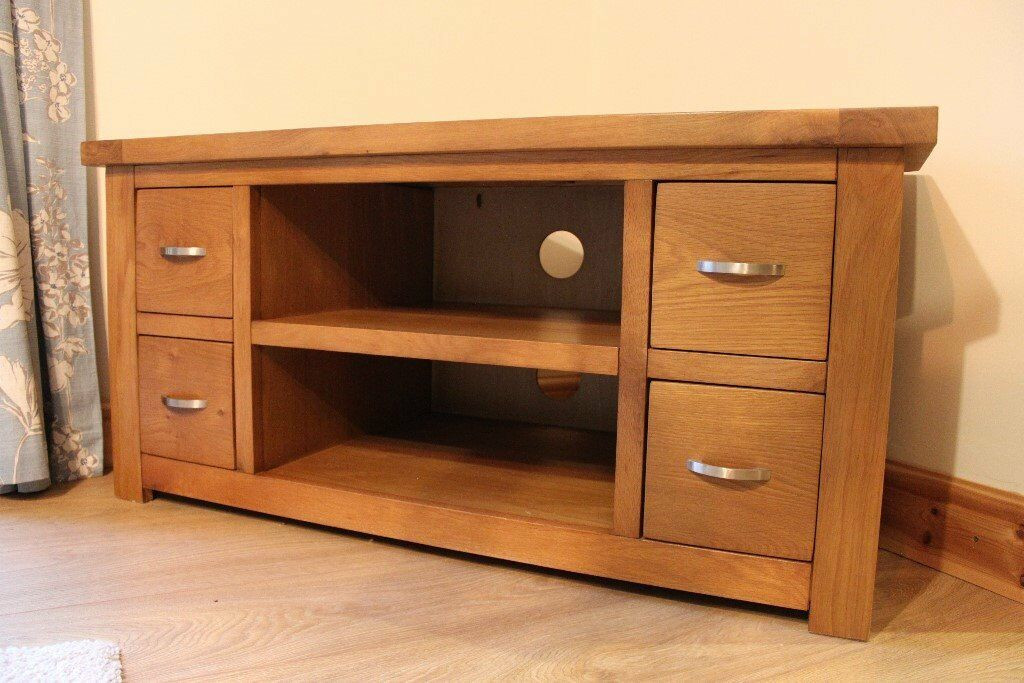 Solid Oak Corner Tv Stand In Dungiven County Londonderry Gumtree