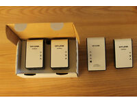 4 TP-Link Powerline network adapters (Homeplugs) for sale