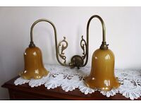 Two Pairs of old Wall Lamps
