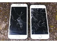 Looking for cracked/working iPhone/Samsung's (I will buy your broken phones for cash)