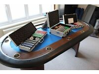 Poker Table with Chips, 10 Seat, Comes with everything