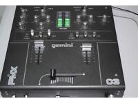 GEMINI PMX 03 DJ 2 CHANNEL MIXER GEMINI ADAPTER/CAN BE SEENWORKING