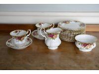 Royal Albert Bone China Teacup, Jug, Bowl and plates