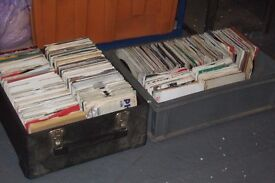 """700 x 7"""" 1960's - 80's Pop / Beat Collection & Record Case"""