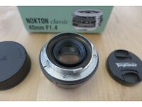 Voigtlander 40mm f1.4 Nokton Classic M Mount Leica
