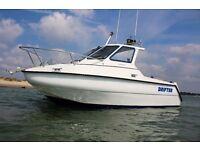 For Sale 2002 British built raider 18 fishing boat