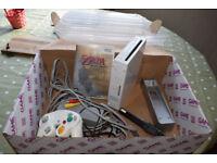 Nintendo Wii console, plus Zelda game