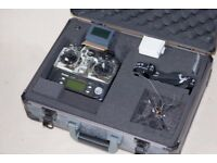 Box of RC Gear including Futaba transmitter, receivers, Drone, FPV goggle and much more