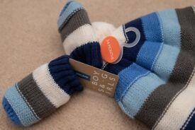 Brand new hat & mitten set, John Lewis brand, 3-6 months