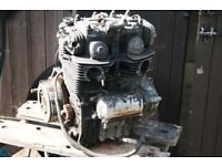 honda cb200cc engine turns freely on starter,has carbs,starter and clutch