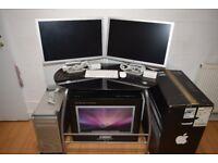 """Mac Pro 5.1 - 8 Cores - SSD + 6TB HDDs - 2x Radeon 5770 1gb - 2x Apple Cinema HD Display 23"""""""