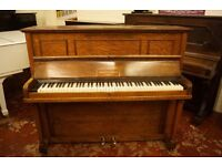 Small Monington & Weston oak upright piano in lovely condition. Tuned & UK delivery is available