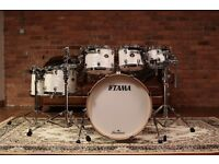Tama Starclassic Birch In White Pearl Finish - 8, 10, 12, 14, 16, 22 | Maple Yamaha Pearl Mapex
