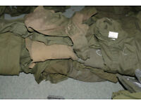 20 green overalls for repair army supply as shown various sizes