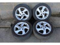 "Peugeot 15"" 5 spoke alloy wheels x4 (4x108 Fitment)"