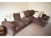 As new - L shaped Corner Sofa. 6 months old - RRP £849.99, Selling £375