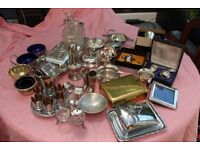 Large Lot of Vintage EPNS and other Metals