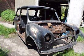 1980 Austin Mini Unfinished Restoration Project *** Minus Doors/Seats/Clocks ***