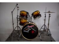 Basic Pearl Fusion Drum Kit and Kit Bags
