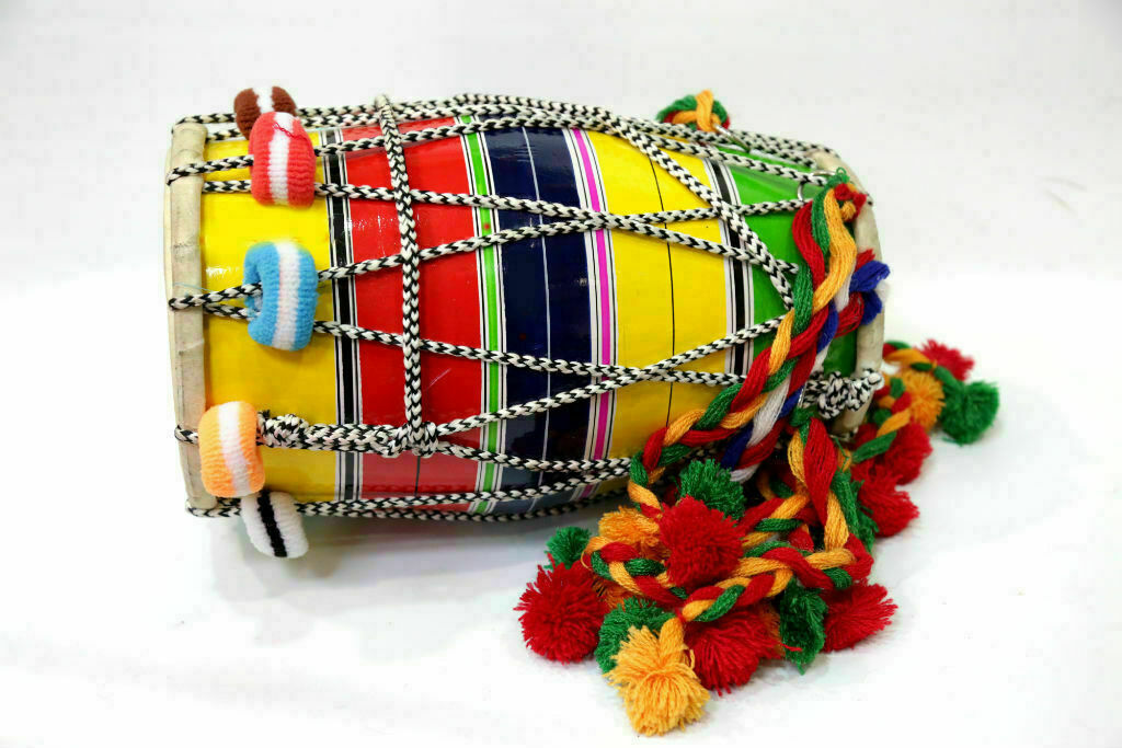 Wood Rope Baby Punjabi Dholak/Dhol FAST Shipping In 24 Hrs, Item Located In USA - $46.49