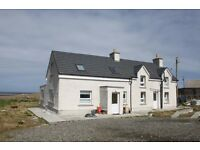 Beautiful house to rent on Isle of Lewis. Stunning location, stunning house. Potential for B and B.