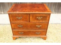 Reproduction Wood Inlaid veneered bedside Chest of Drawers 4 drawer