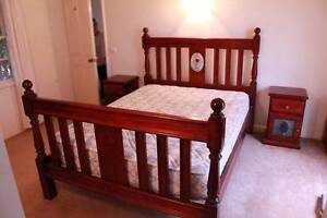 Queen size bed frame with 2 matching bedsides Dubbo Dubbo Area Preview