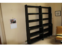 Ikea Leksvik Bookcases, solid wood, black finish.