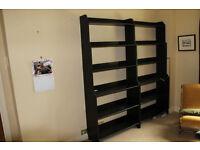 Ikea Leksvik Bookcases, solid wood, black finish.
