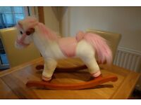 Gorgeous Pink And White Rocking Horse