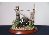 """Border Fine Arts Country Character Badger """"The Rambler"""" A0002"""