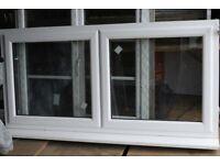 double glazed window 181wide x90high w. sill white pvc