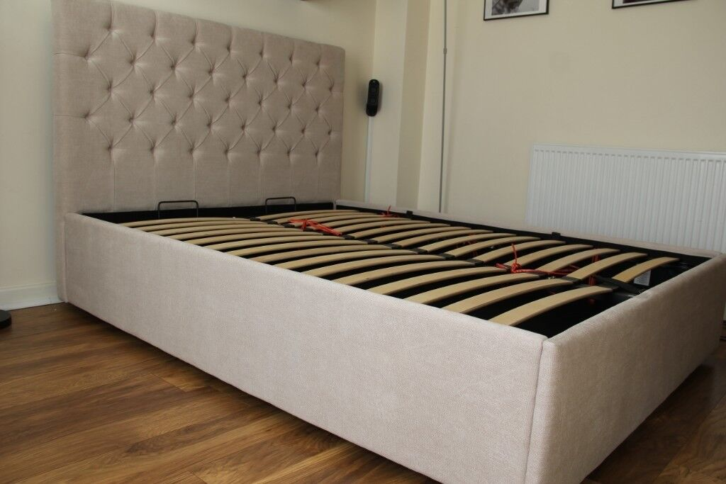 c7c130ecf314 Made com Skye King size Bed with Storage, Tulip Cream RRP £699 ...