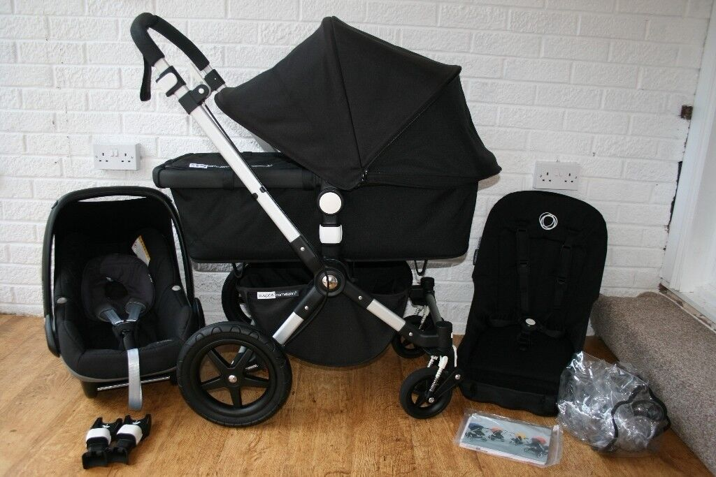 Black Bugaboo Cameleon Cam 3 Pram Full Travel System With Car Seat In 1 CAN