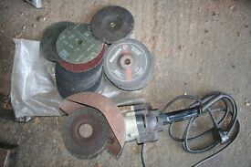 """Disc Cutter, Grinder - Electric for 7""""/10"""" discs (metal discs and sander pad with discs included."""