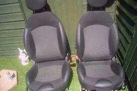 Mini half leather Front seats