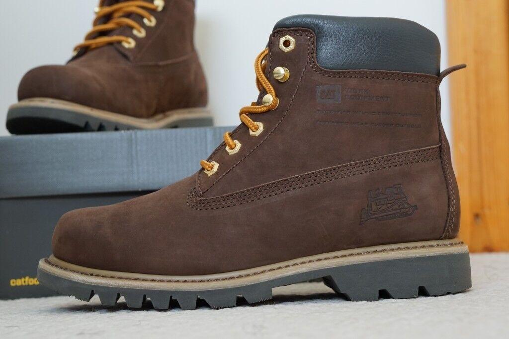 7a4cbebe CAT Caterpillar Bruiser Men Ankle Boots size 7 UK Espresso/Brown Shoes
