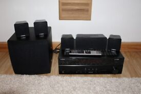 Yamaha RX-V667 7.2-Channel Home Theater Receiver, HDMI, + 5.1 Yamaha speakers
