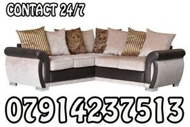 SOFA Brand New Black & Grey Or Brown/Beige Helix Sofa Available 867