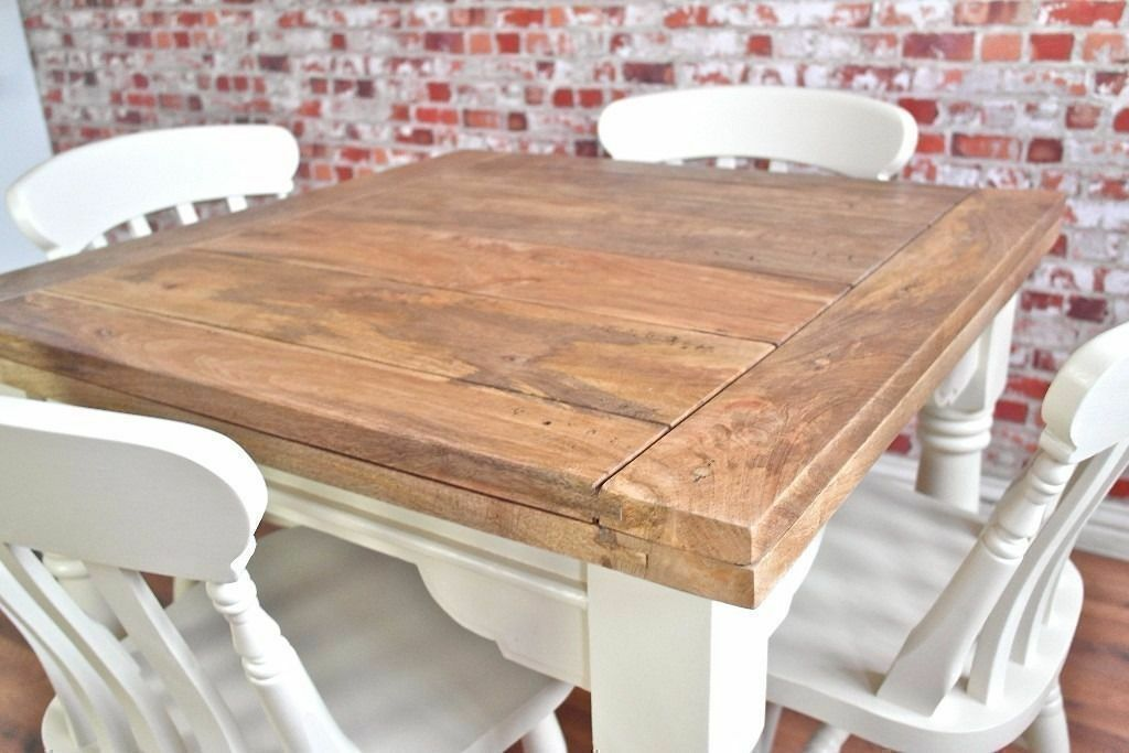 Reclaimed Hardwood Rustic Extending Hardwood Dining Table and