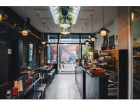 Cafe Assistant required for small cafe Shoreditch Coffee making/food preparation required