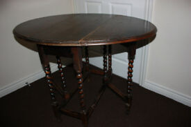 Antique barley twist table