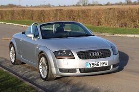 AUDI TT 1.8T QUATTRO CONVERTIBLE 225 BHP ONLY 100K MILES! CAMBELT DONE! FSH!