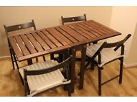 Ikea Folding Indoor/Outdoor Table w/Chairs